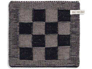Knit Factory Tischdecke »Topflappen Block Schwarz/Taupe«
