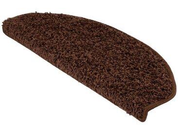Kubus Stufenmatte »Kleopatra«, Halbrund, Höhe 9 mm, braun, Braun