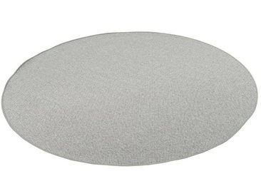 Snapstyle Designteppich »Bentzon Natur Flachgewebe Teppich Rund«, Rund, Höhe 5 mm, silberfarben, Silber