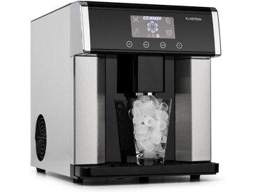Klarstein Eiszeit Eiswürfelmaschine Edelstahl 3 Eiswürfelgrößen »EiszeitIceMakers«, silberfarben, silber