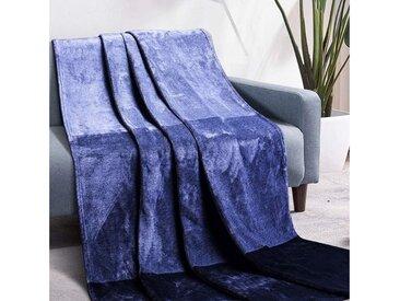 Luxear Wohndecke, Fleecedecke Antistatikfunktion Extra Weich & Warm Doppelseitig, grau, Grau
