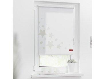 LICHTBLICK ORIGINAL Seitenzugrollo »Rollo Klemmfix, ohne Bohren, blickdicht, Sterne - Grau«, blickdicht, freihängend