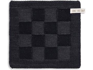 Knit Factory Tischdecke »Topflappen Block Schwarz/Anthrazit«