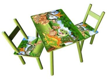 HTI-Line Kindersitzgruppe »Kindertischgruppe Dinos«, (Tisch und 2 Stühle, 3-tlg), Kindertisch