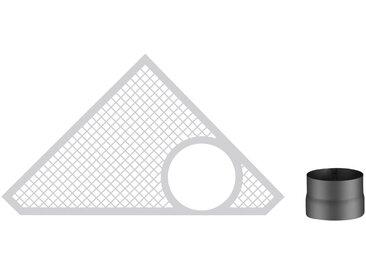 Haas + Sohn HAAS+SOHN Rauchrohr-Set 150 mm, grau, grau