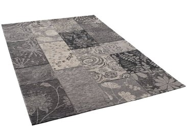 Pergamon Designteppich »Luxus Vintage Designerteppich Patchwork Anthrazit«, Rechteckig, Höhe 5 mm