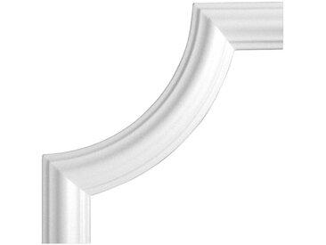 Homestar HOMESTAR Zierleiste »Bogen BI 40«, 4-tlg. Set, passend zur Zierleiste I 40, Ø 240 mm, weiß, weiß