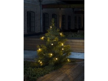 KONSTSMIDE Baumkette, Topbirnen mit gedrehter Spitze, One String, weiß, Lichtquelle klar, Weiß