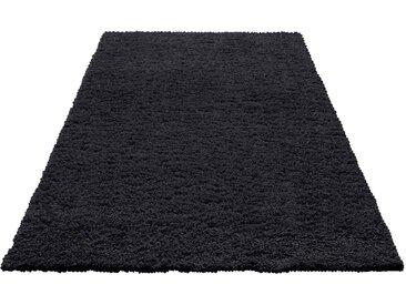 Home affaire Hochflor-Teppich »Viva«, rechteckig, Höhe 45 mm, gewebt, Wohnzimmer, schwarz, schwarz