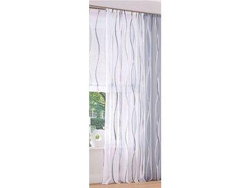 my home Gardine »Dimona«, Kräuselband (2 Stück), weiß, weiß-silberfarben-grau