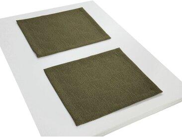 Wirth Platzset, »TORBOLE«, (Packung, 2-St), grün, moosgrün