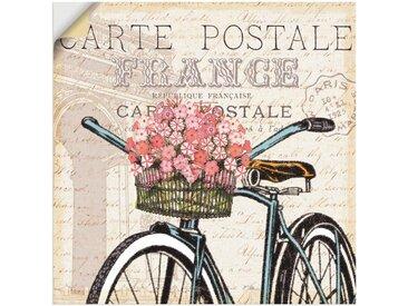 Artland Wandbild »Paris Fahrt II«, Fahrräder (1 Stück), in vielen Größen & Produktarten -Leinwandbild, Poster