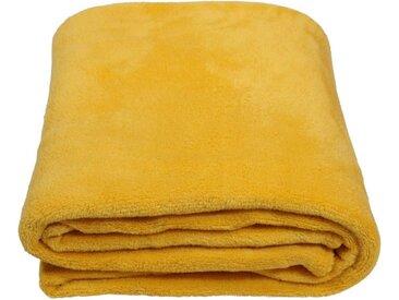 SunDeluxe Wohndecke »Fleecedecke SoftFleece«, gelb, senf