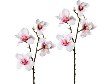 Creativ green Kunstzweig »Zweig Magnolie«, Höhe 85 cm, 2er Set, rosa, rosa