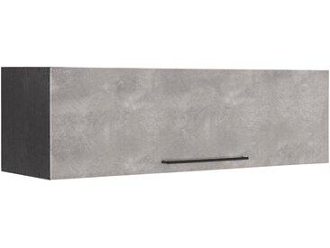 HELD MÖBEL Klapphängeschrank »Tulsa« 110 cm breit, mit 1 Klappe, schwarzer Metallgriff, hochwertige MDF Front, grau, betonfarben