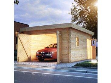 Karibu Garage »Florian«, BxT: 417x571 cm, 193 cm Einfahrtshöhe, mit Dachfolie