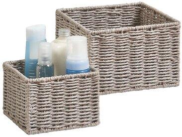 ZELLER Aufbewahrungskorb »Aufbewahrungskörbchen« (Set, 2 Stück), ideal fürs Bad, Wohnzimmer oder Büro