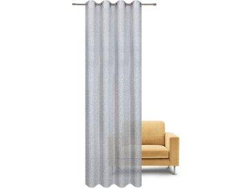 Gerster Vorhang »EMILIA«, Ösen (1 Stück), HxB: 235x140, Feiner Ösenschal bedruckt, grau, grau