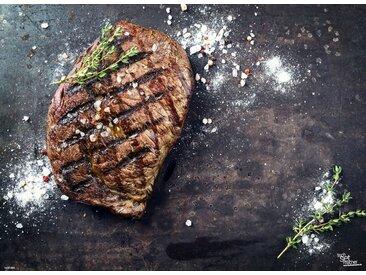 Tischsetmacher Platzset, »Tischsets I Platzsets - Grillen - Steak mit Gewürzen - 12 Stück aus hochwertigem Papier 44 x 32 cm«, (12-St)