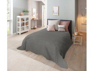 Home affaire Tagesdecke »Melli«, auch als Tischdecke und Sofaüberwurf einsetzbar, grau, anthrazit-meliert