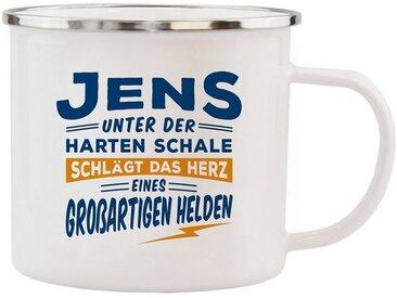 HTI-Living Becher »Echter Kerl Emaille Becher Jens«