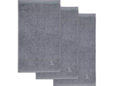 Möve Gästehandtücher »Superwuschel« (3-St), in kräftigen Farben, grau, grau