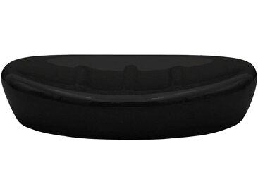 RIDDER Seifenschale »Belly«, Keramik, schwarz, schwarz
