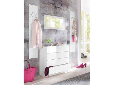 borchardt Möbel Garderoben-Set »Vaasa 3«, (Set, 3-tlg), mit Push to Open-Funktion, weiß, weiß matt