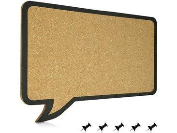 Navaris Pinnwand, Kork Memoboard Tafel - 44 x 29 cm Pin Board Korkwand - Korktafel Memo Wand inkl. 5 Pins - im Sprechblase Design