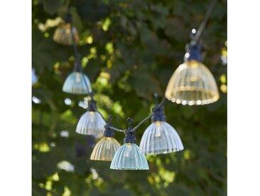 STAR TRADING LED-Lichterkette »LED Lichterkette LAMPENSCHIRM Outdoor L: 4,95m mehrfarbig transparent«, 12-flammig