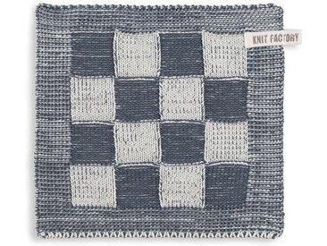 Knit Factory Tischdecke »Topflappen Block Ecru/Granit«
