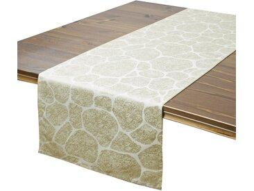 Delindo Lifestyle Tischläufer »STONE«, Jacquard, Fleckschutz, 180 g/m², natur, beige