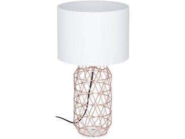 relaxdays Nachttischlampe »Tischlampe Gitter«