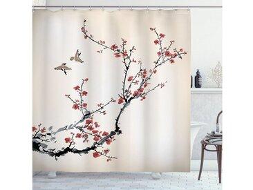 Abakuhaus Duschvorhang »Moderner Digitaldruck mit 12 Haken auf Stoff Wasser Resistent« Breite 175 cm, Höhe 180 cm, Blumen Art-Kunst-Vögel