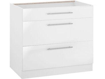 wiho Küchen Unterschrank »Flexi2« Breite 90 cm, weiß, weiß Glanz/weiß