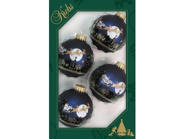 Krebs Glas Lauscha Weihnachtsbaumkugel »Weihnachtsszene« (4 Stück)