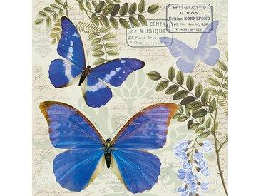 Ambiente Papierserviette »Nostalgie Schmetterlinge«, (5 St), 33 cm x 33 cm, 5 St.