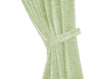 Wirth Raffhalter »Thermo-Chenille 288g/m²«, Gardinen, (2-tlg), grün, hellgrün