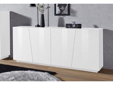 Tecnos Sideboard »Vega«, Breite 200 cm, weiß, weiß Hochglanz