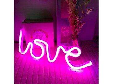 TOPMELON LED Nachtlicht »LED Neonlicht«, rosa, Love-rosa