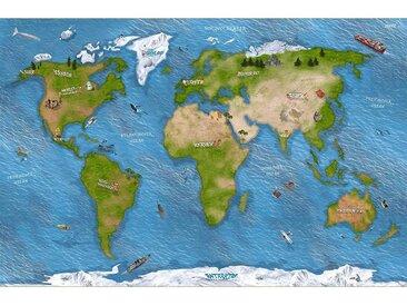 STIKKIPIX Spielmatte »SM15«, Weltkarte Spielmatte (hnlich Spielteppich), Hochwertige Spiel-Matte für das Kinder-Zimmer, ideales Zubehör zu Spiel-Figuren von Schleich, Playmobil, Papo
