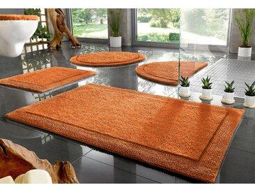 Home affaire Badematte »Kapra« , Höhe 10 mm, beidseitig nutzbar, Bio Baumwolle, orange, terra