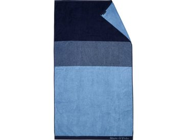 Marc O'Polo Home Strandtuch »Horizon« (1-St), mit Logo-Bordüre, blau, blue