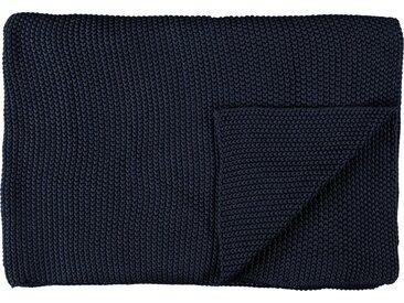 Marc O'Polo Home Plaid »Nordic Knit«, Strickoptik, blau, indigoblau