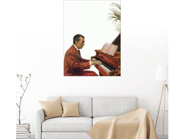 Posterlounge Wandbild, Rachmaninoff spielt das Piano, Premium-Poster