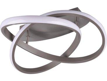 TRIO Leuchten LED Deckenleuchte »LED Deckenleuchte MIRA«, Switch Dimmer, grau, nickelfarben-weiß