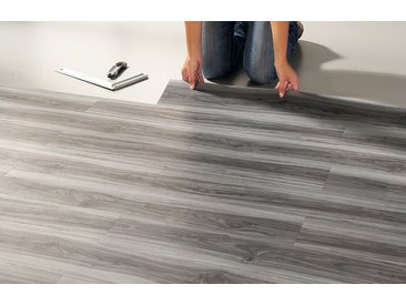 Vinyllaminat »PVC Planke«, 24 Stück, 3,34 m², selbstklebend, natur, grau-braun