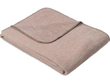 IBENA Wolldecke »Jacquard Decke Auckland«, GOTS zertifiziert, braun, Mischgewebe, braun