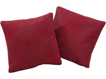 Home affaire Dekokissen »Palmera«, 2 Kissen im Set in vielen Farben und Mustern, rot, bordeaux