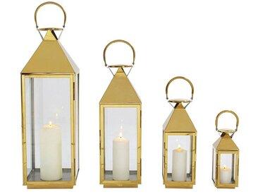 KARE Kerzenständer »Laterne Giardino Gold 4Set«